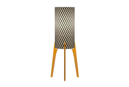 Phoebe a3 lamp black chevron